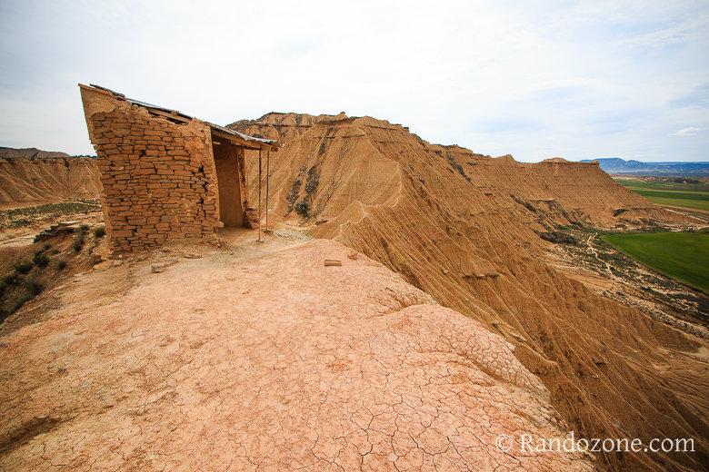 La guérite et le désert des Bardenas
