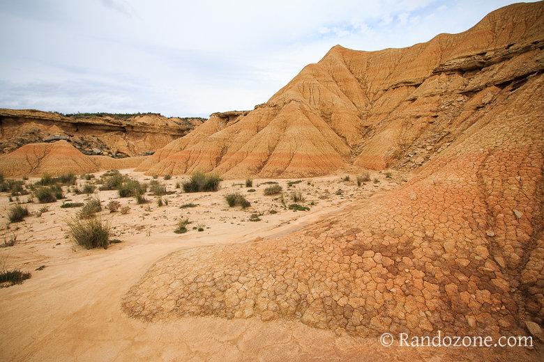 Le sol vraiment particulier du désert des Bardenas
