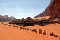 Camp bédouin, wadi Rum et Pétra