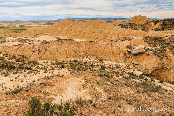 Paysage typique du désert des Bardenas