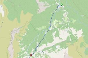Cascades de la Pleureuse et de la Sauffaz depuis la cascade du Rouget