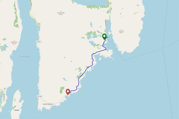 Randonnée entre Nusfjord et Austre Nesland